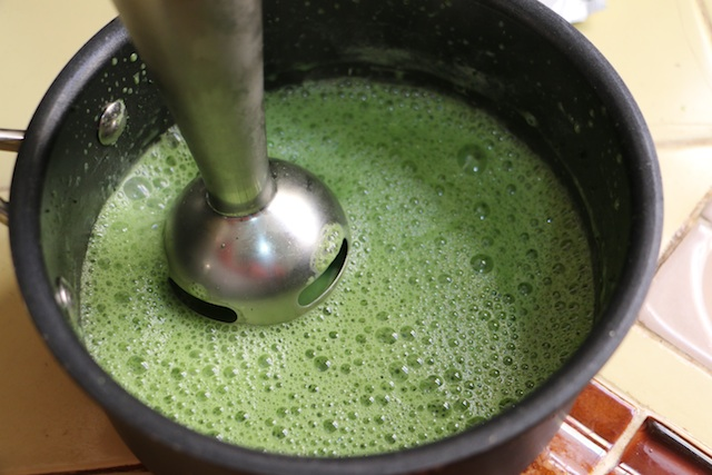 how to make matcha with immersion blender